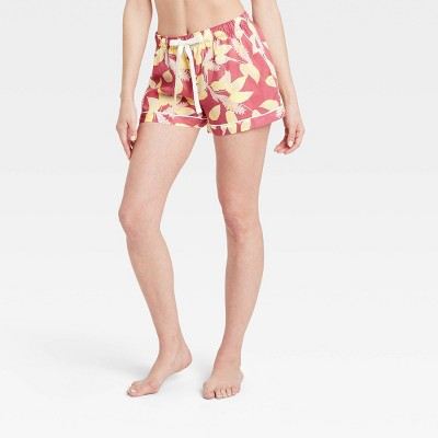 Women's Floral Print Simply Cool Pajama Shorts - Stars Above™ Rose