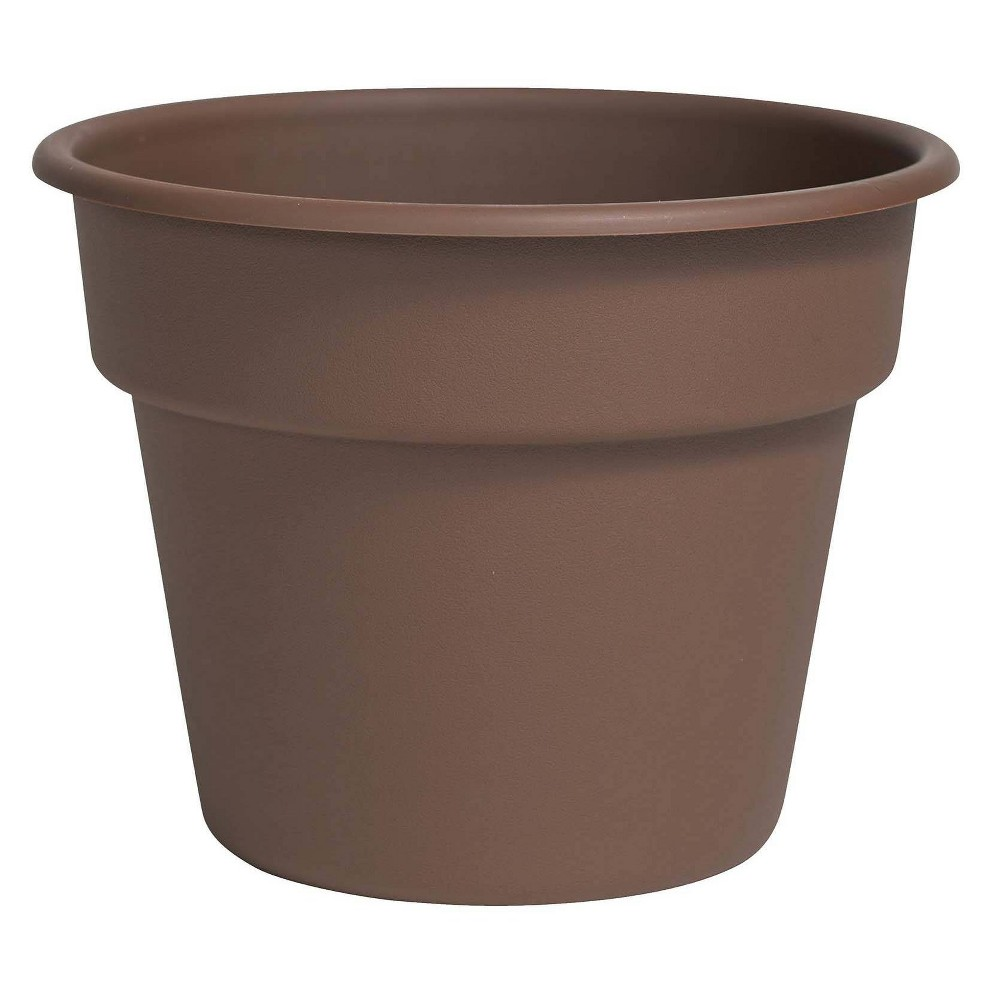 "Image of ""10"""" Dura Cotta Planter Chocolate Bloem"""