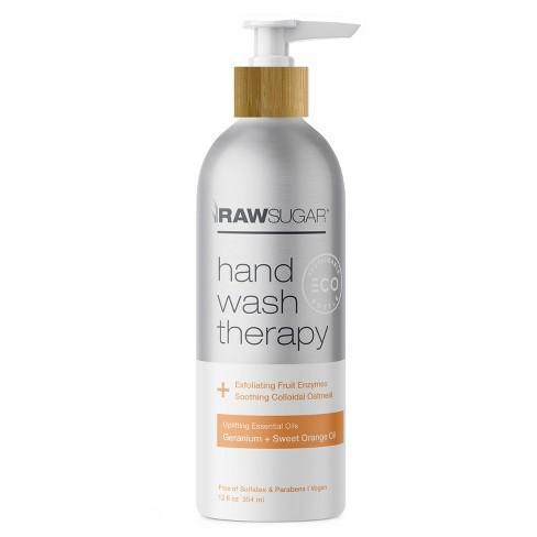 Raw Sugar Exfoliating Hand Wash TherapyGeranium + Sweet Orange Oil - 12 fl oz - image 1 of 4