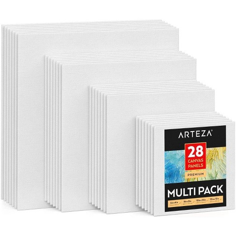 ARTEZA Canvas Panels, Premium, Square, Multiple Sizes - Set of 28 - image 1 of 4