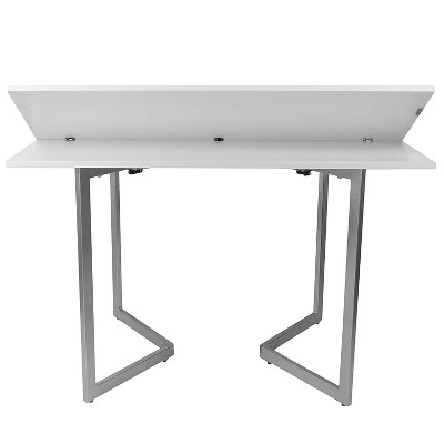Genial Spacemaster Transforming Expandable Dining Table U0026 Foldable Office Desk,  White