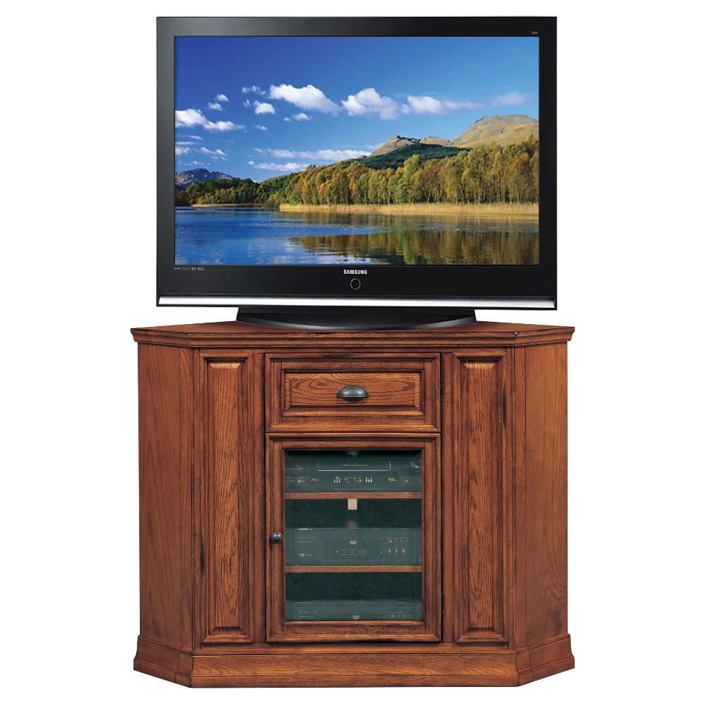 46 Corner TV Stand Oak (Brown) - Leick Home