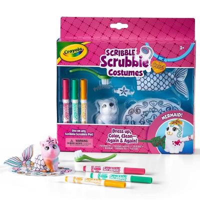 Crayola Scribble Scrubbie Costumes Pets Mermaid Set