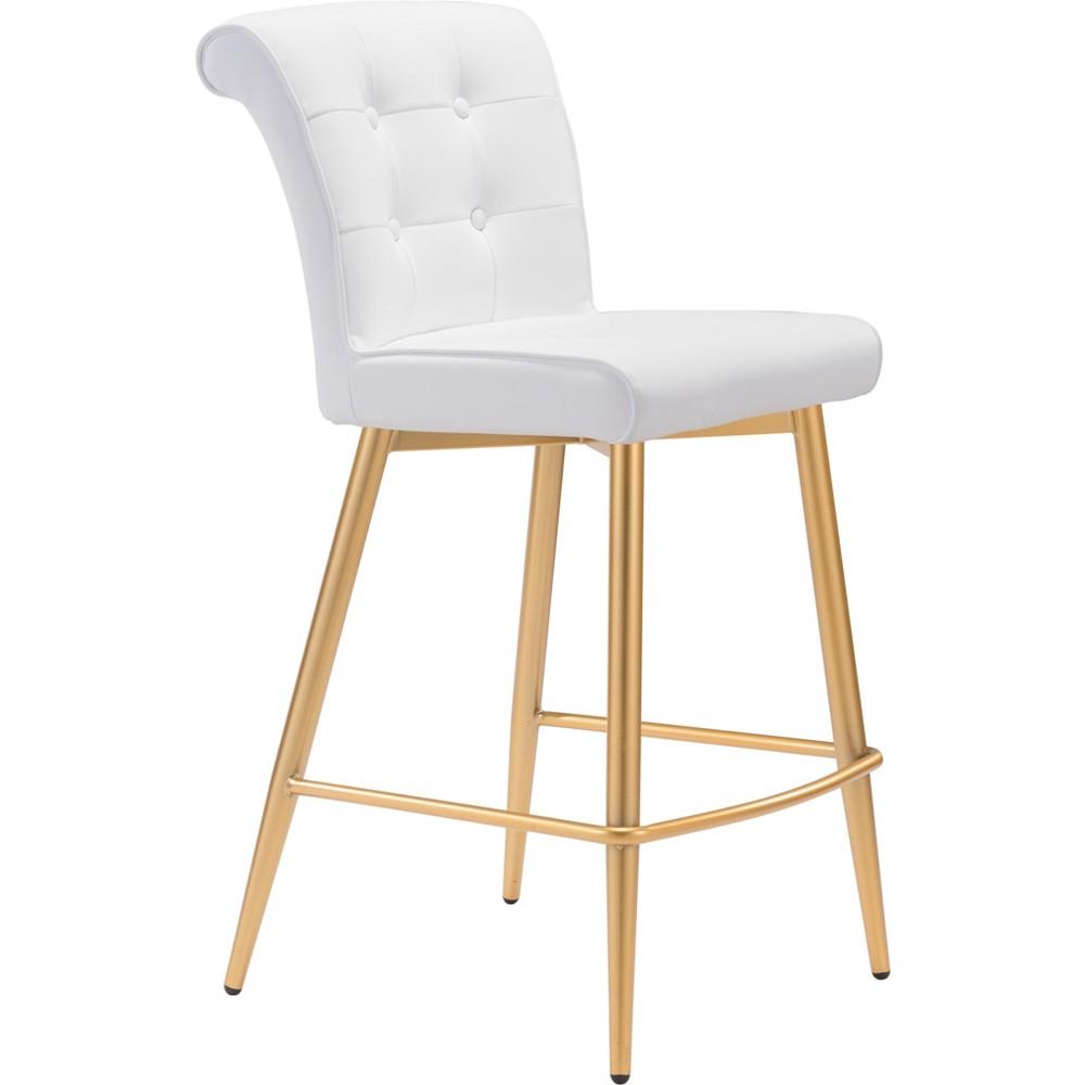 26 Modern Glam Counter Chair White - ZM Home