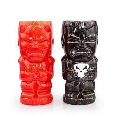 Beeline Creative Geeki Tikis Marvel Daredevil & Punisher Ceramic Mugs   Set Of 2   SDCC Exclusive