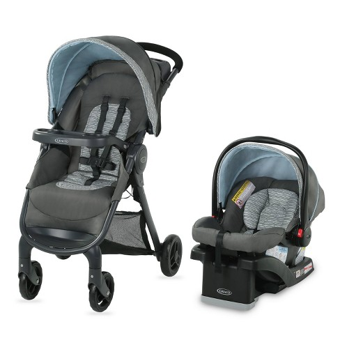 Graco FastAction Fold SE Travel System with SnugRide Infant Car Seat  - image 1 of 4