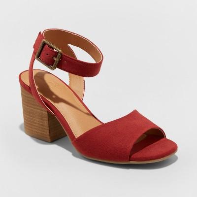 d5c356952af Women's Megan Microsuede Quarter Strap Heeled Pump Sandals - Universal  Thread™