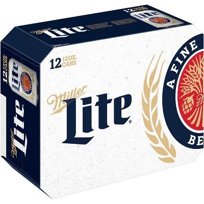 Miller Lite Beer American Lager - 12pk / 12 fl oz Cans