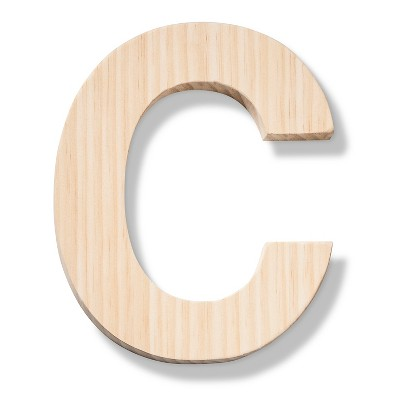 hand made modern - wood letter large - c : target