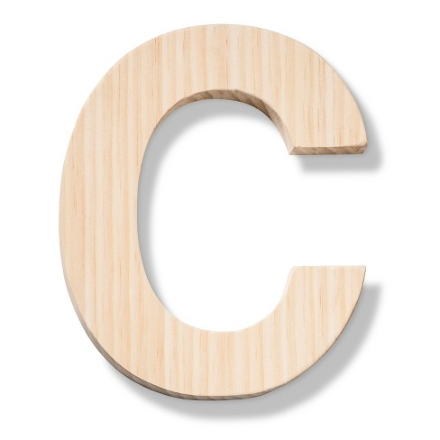 hand made modern wood letter large c