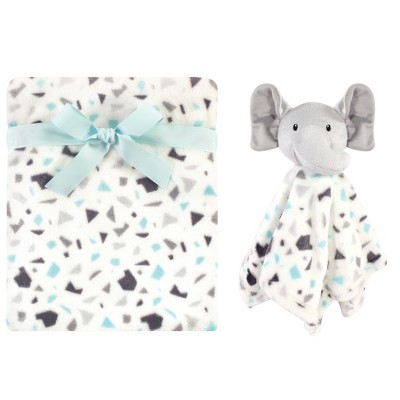 Luvable Friends Baby Plush Blanket and Security Blanket, Terrazzo Elephant, One Size