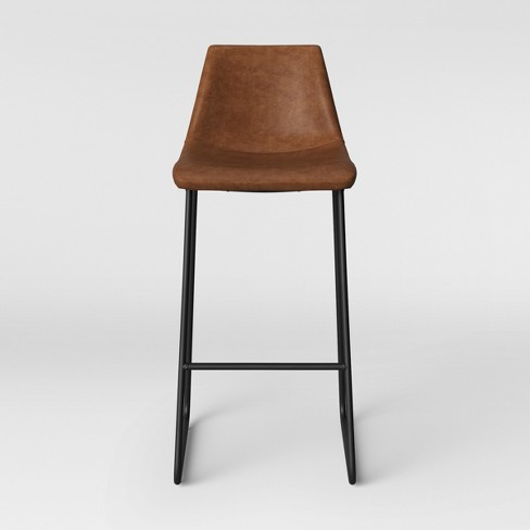 Super Bowden Faux Leather And Metal Barstool With Black Legs Caramel Brown Project 62 Uwap Interior Chair Design Uwaporg
