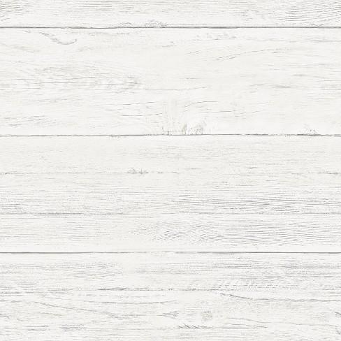 Brewster Shiplap Peel Stick Wallpaper White