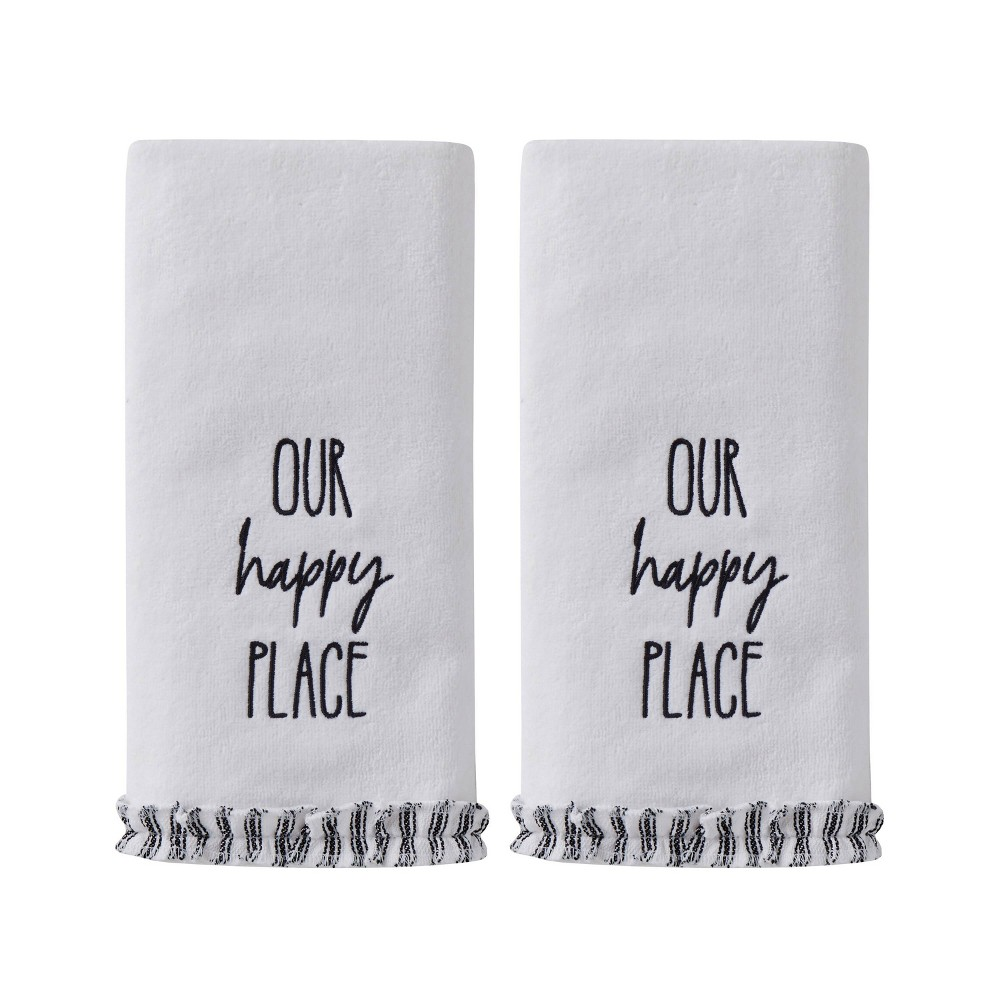 Image of 2pc Our Happy Place Hand Towel in Natural - SKL Home