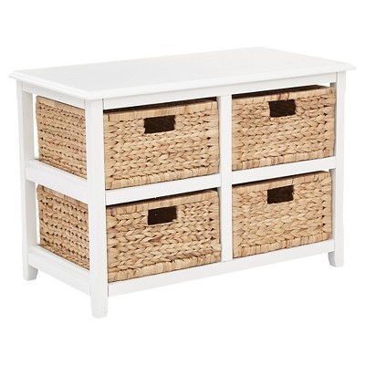 Seabrook Four Double Storage Unit White - OSP Home Furnishings