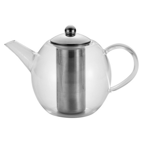 Bonjour Round Glass Teapot with Flavor Lock Infuser (34 oz) - image 1 of 4