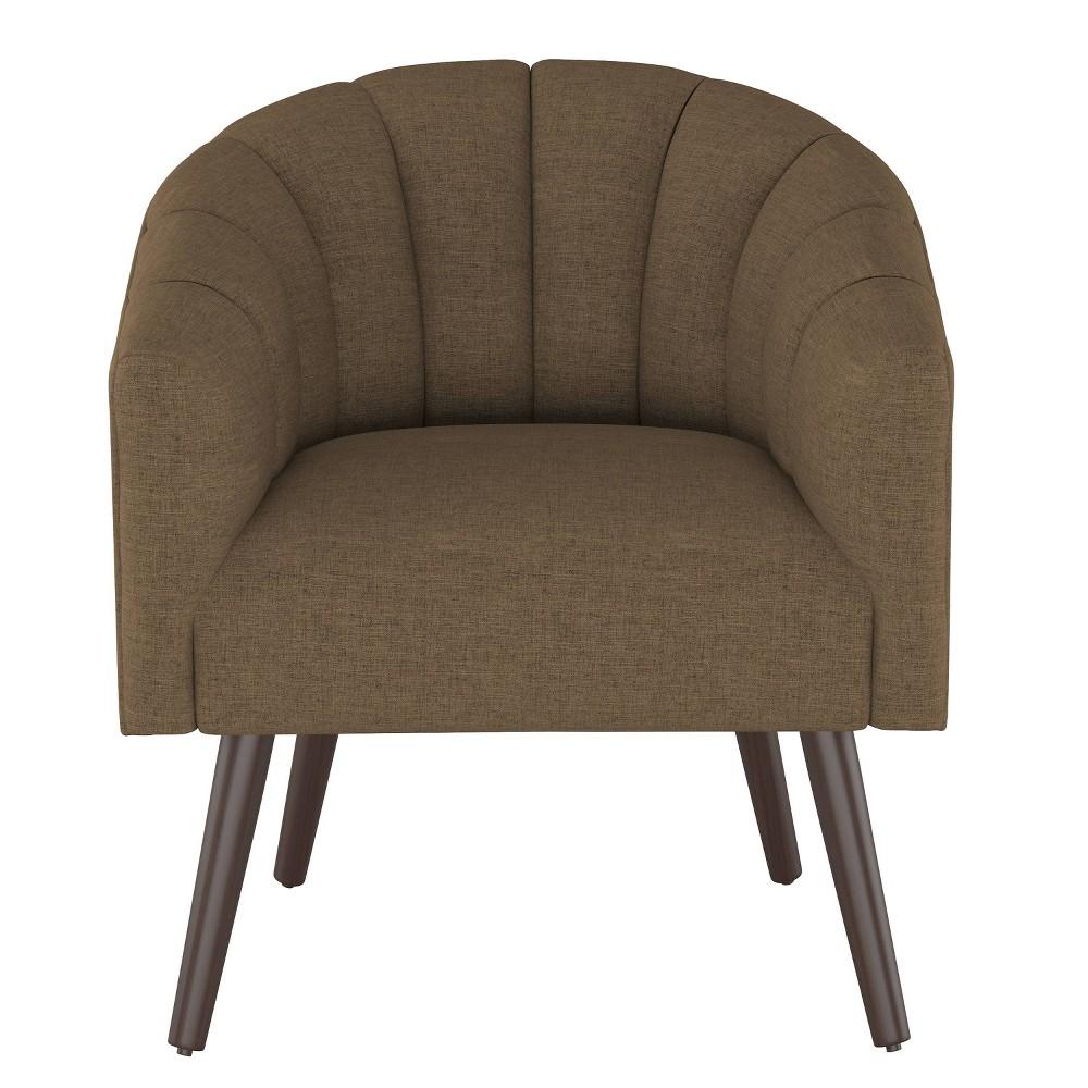 Modern Barrel Chair in Zuma Chocolate (Brown) - Project 62