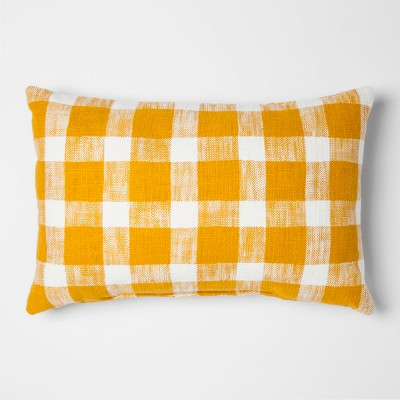 Yellow Gingham Lumbar Throw Pillow - Threshold™