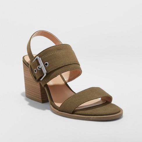 583b53f09f7 Women s Matti Heeled Buckle Ankle Strap Sandals - Universal Thread™