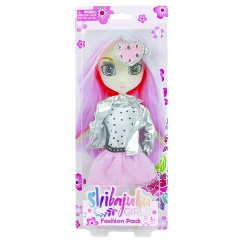 Shibajuku Doll Outfit, Silver & Pink - image 1 of 1