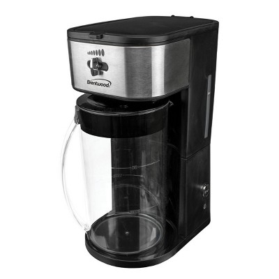 Brentwood Iced Tea and Coffee Maker in Black with 64 Ounce Pitcher