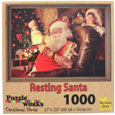 Puzzleworks Resting Santa 1000 Piece Jigsaw Puzzle