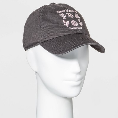 Mighty Fine Women's New Mexico Cactus Baseball Hat - Gray One Size