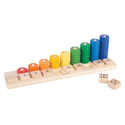 Kaplan Early Learning Co. Natural Wooden Stack and Sort Board