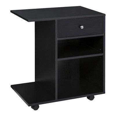 Vinsetto Printer Table, Rolling Cart Stand with Wheels, Adjustable Shelf, Drawer and CPU Stand
