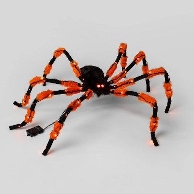 3' LED Battery Operated Hanging Spider Lighted Halloween Decor - Hyde & EEK! Boutique™