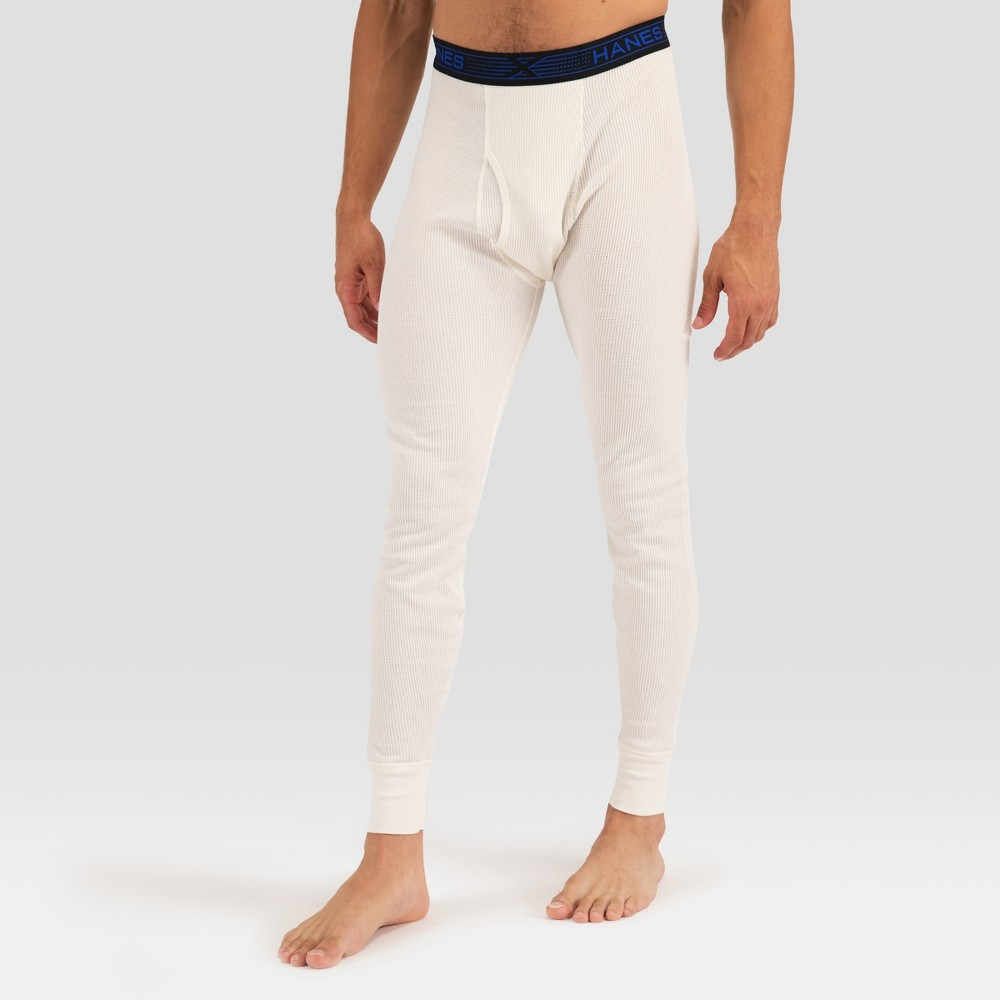 Hanes Premium Men's Xtemp with Fresh IQ Thermal Bottom - Ecru XL, Beige