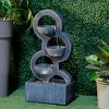 """35.75"""" Indoor/Outdoor Forgiveness Resin Fountain with Water Pump and LED Light Gray - Alfresco Home LLC - image 2 of 4"""