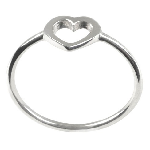 Kid's Journee Collection Heart Ring in Sterling Silver - Silver - image 1 of 2