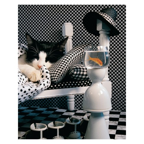 Springbok Checkerboard Cat 1000pc Jigsaw Puzzle - image 1 of 1