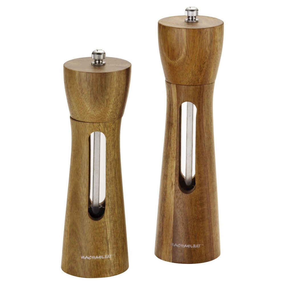 Image of Rachael Ray Salt & Pepper Acacia Wood Grinders, Brown