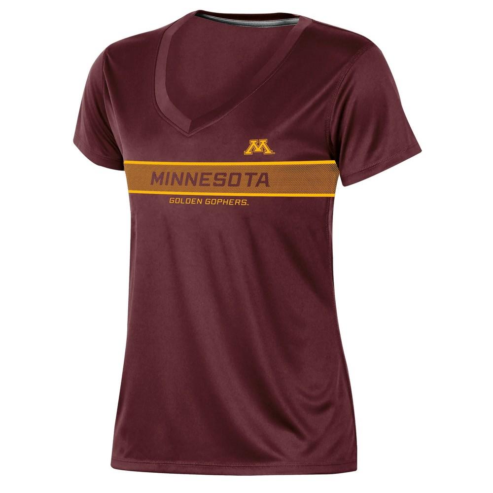 Minnesota Golden Gophers Women's Short Sleeve V-Neck Performance T-Shirt - S, Multicolored