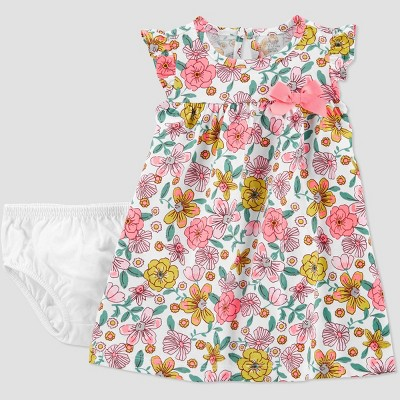 Baby Girls' Floral Dress - Just One You® made by carter's White 3M