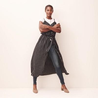 e938bf7f52f Women s Sleeveless V-Neck Button Front Striped Maxi Dress - Universal Thread™  Black White