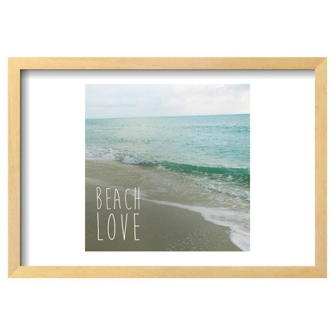 Beach Love By Susan Bryant Framed Poster 19x13 Target