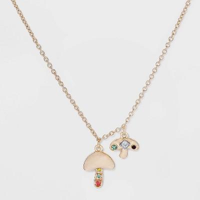 SUGARFIX by BaubleBar Gold Mushroom Pendant Necklace