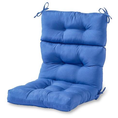 Solid Outdoor High Back Chair Cushion - Kensington Garden - image 1 of 4