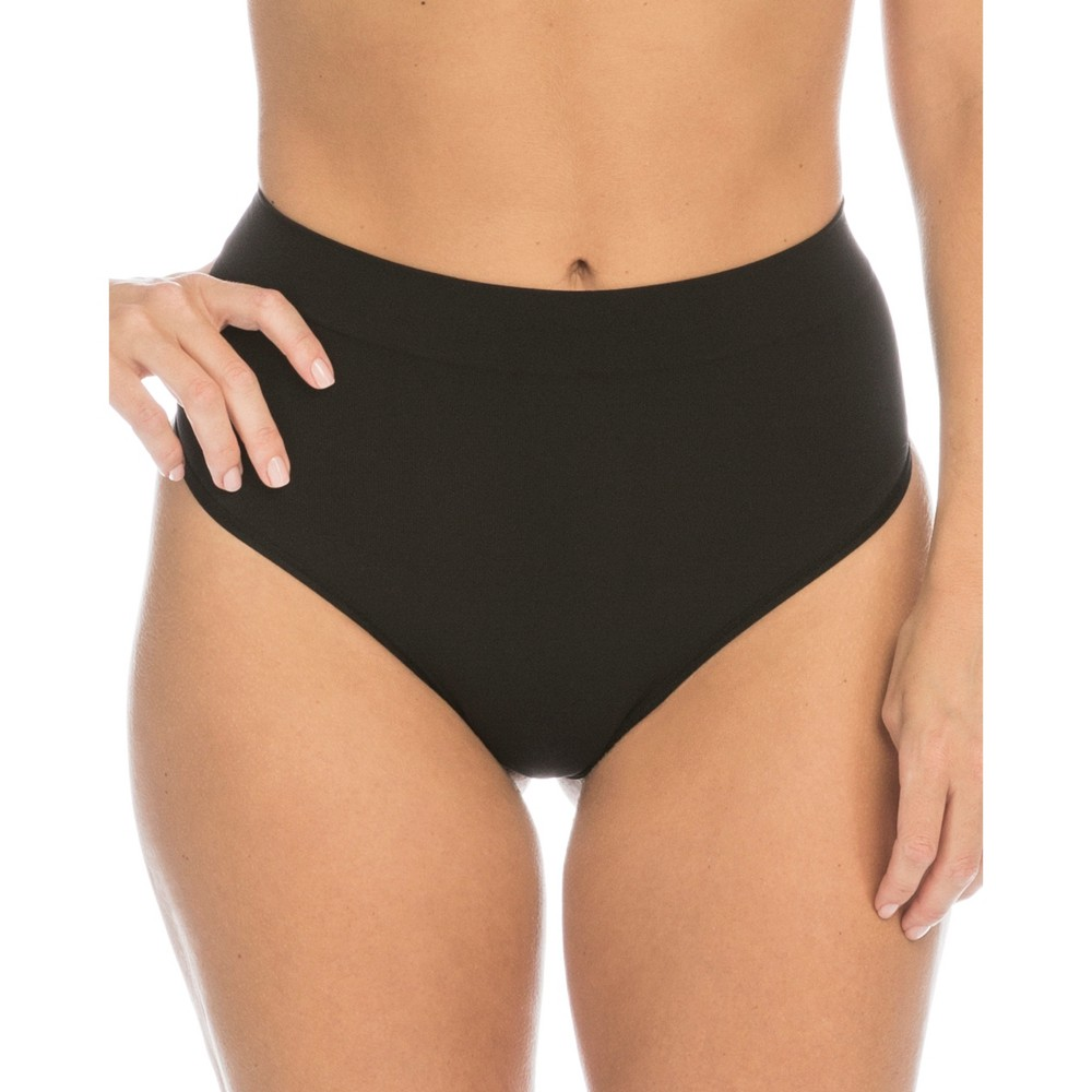 Image of Assets by Spanx Women's All Around Smoothers Thong - Black M, Women's, Size: Medium