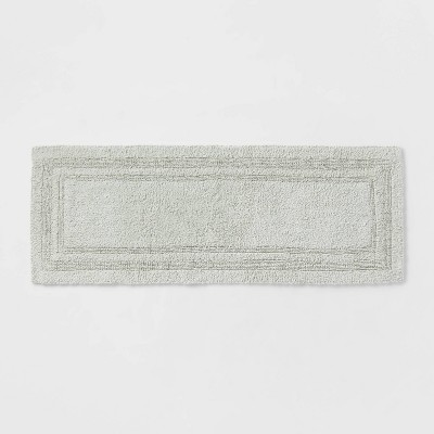 "22""x60"" Performance Cotton Reversible Bath Runner Light Green - Threshold™"