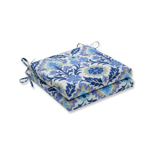 Indoor/Outdoor 2pc Santa Maria Azure Squared Corners Seat Cushion - Pillow Perfect - image 1 of 1