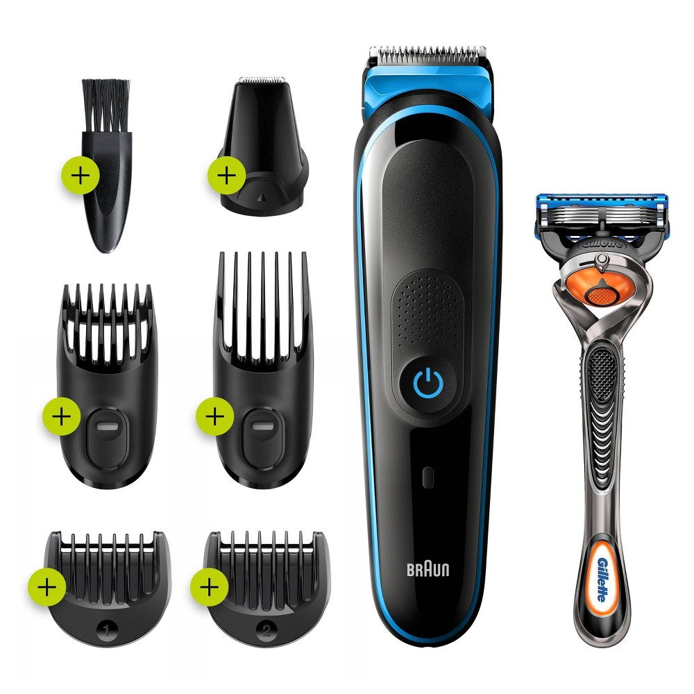Image of Braun MGK3245 7-in-1 Men's Rechargeable Wet & Dry Electric Shaver & Trimmer Kit for Beard & Hair Styling