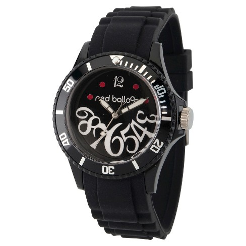 Women's Red Balloon Black Plastic Watch - Black - image 1 of 2