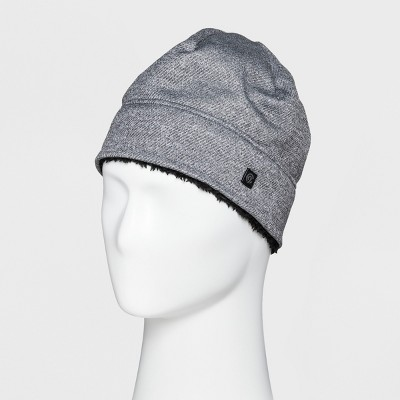 d7209f48b6074 Mens Heather Knit Beanie Sherpa Lined - C9 Champion® Light Gray One Size