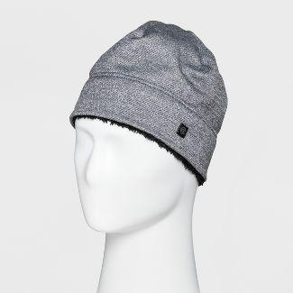 3c630e51bfa5b Mens Heather Knit Beanie Sherpa Lined - C9 Champion® Light Gray One Size