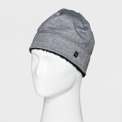 Men s Heather Knit Beanie Sherpa Lined - C9 Champion® Light Gray One ... af32b40c47c