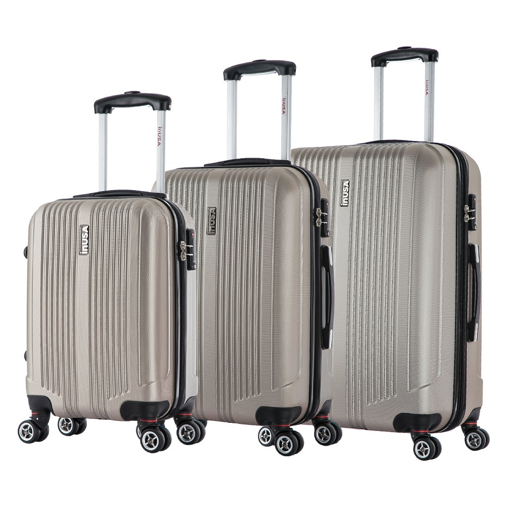 InUSA San Francisco 3pc Hardside Spinner Luggage Set 18& 22
